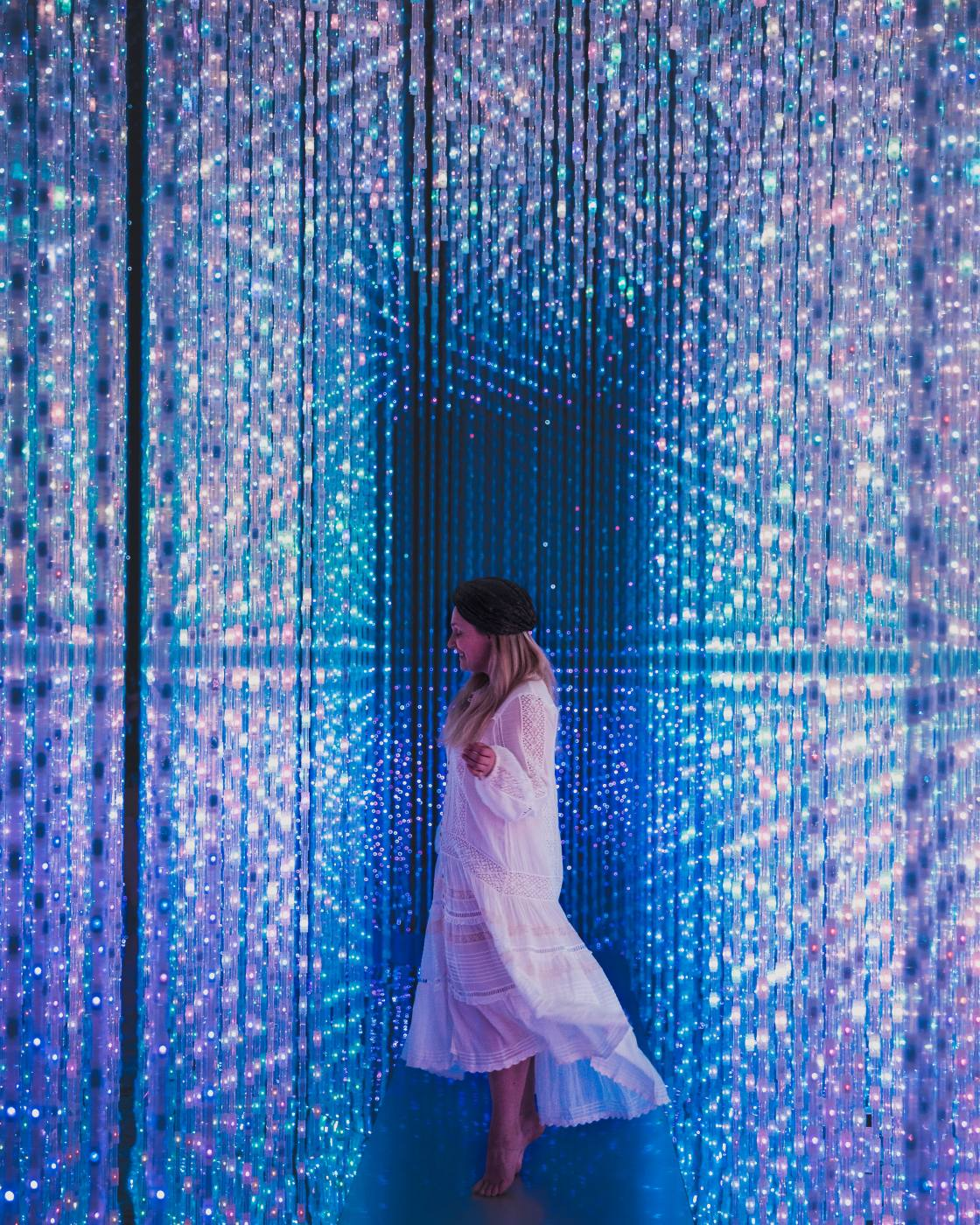 How to visit teamLab Borderless in Japan or ArtScience Museum in Singapore?