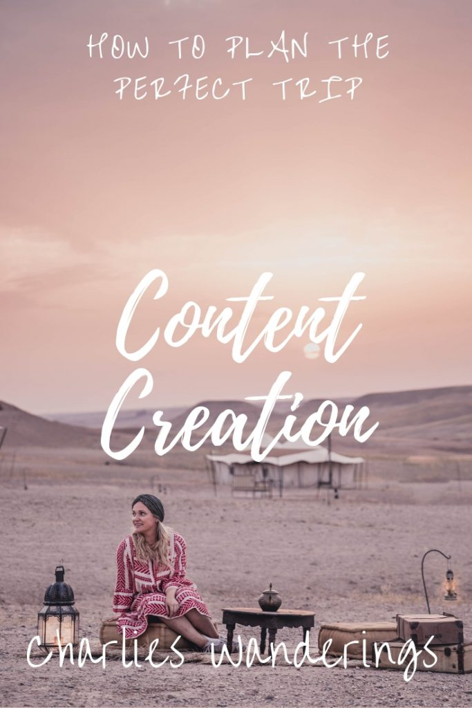 How to plan for a content creation trip
