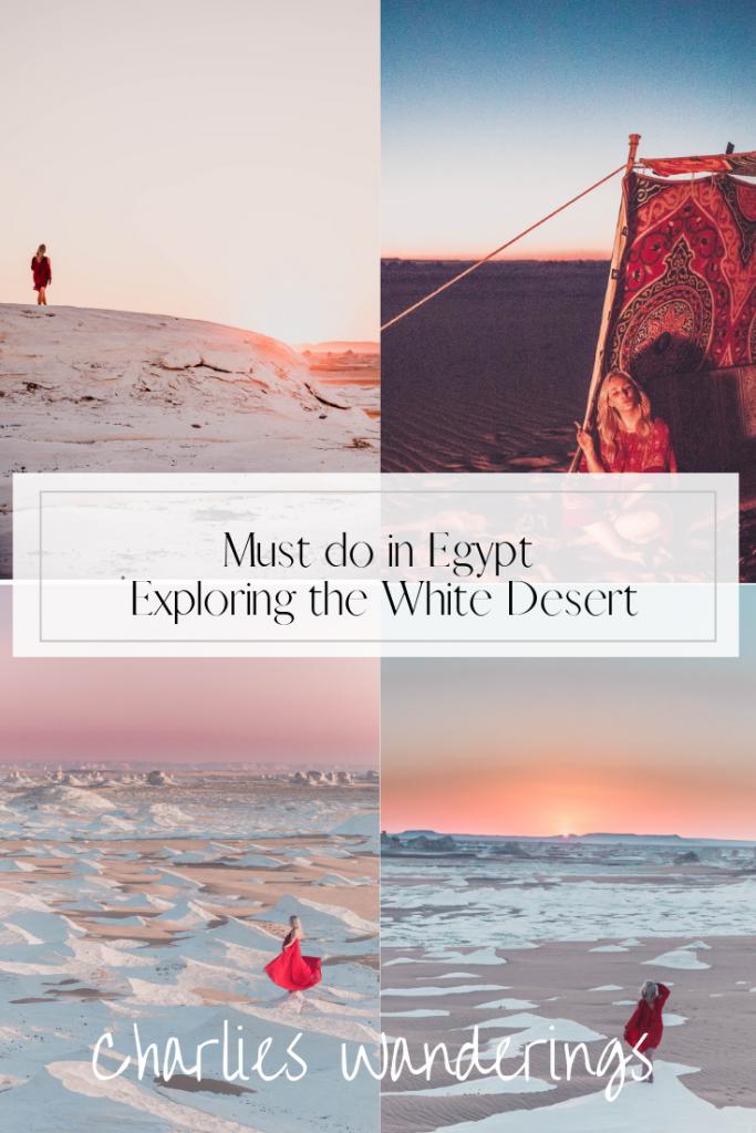 exploring the white desert in egypt