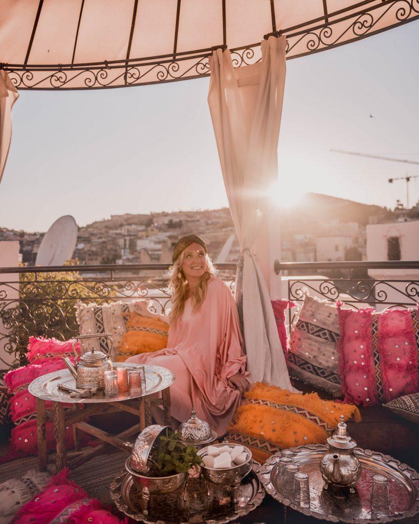 Rooftop tea at Palais Amani