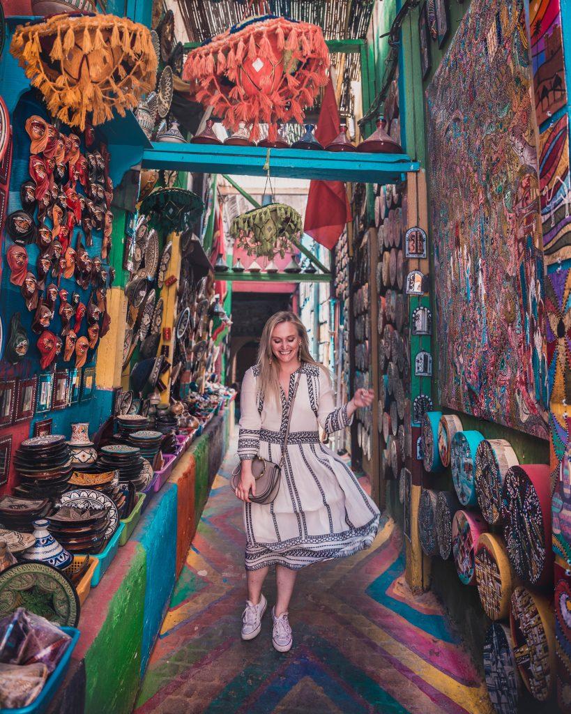 Rainbow street in Fez