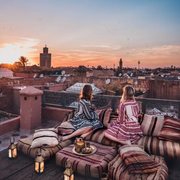 Beautiful rooftop at Riad Ksar Kasbah
