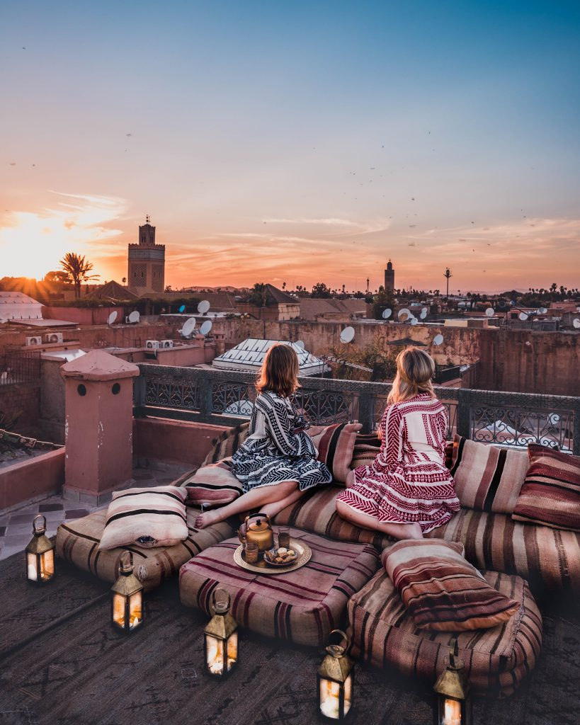 Beautiful rooftop at Riad Ksar Kasbah