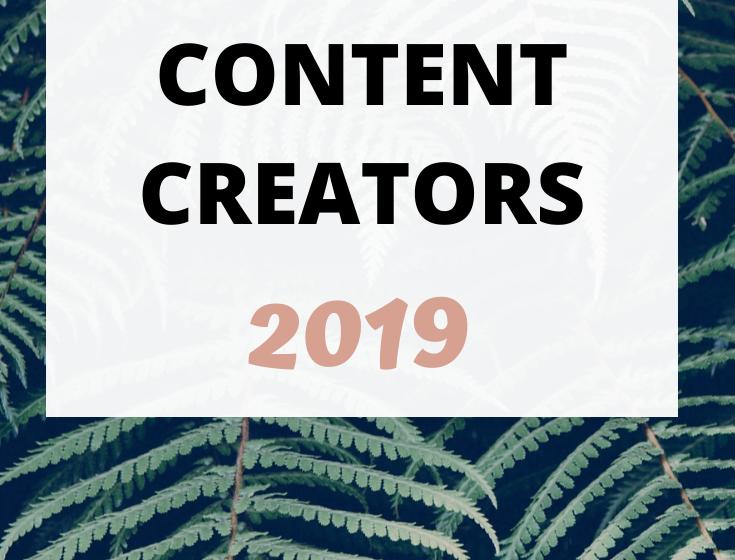 My Top 15 Content Creators of 2019