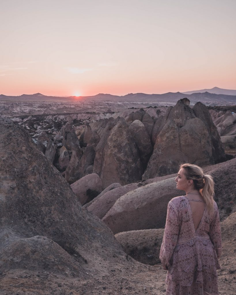 cappadocia travel, cappadocia photography, sunset rose valley