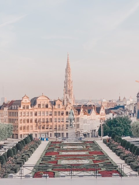 Sunrise at Mont des Arts in Brussels